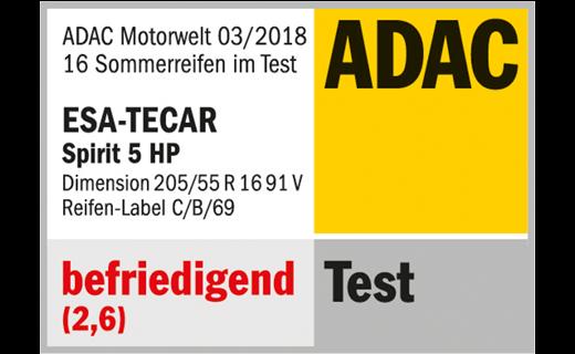 ADAC TEST 03/2018 ESA+TECAR SPIRTIT 5 HP